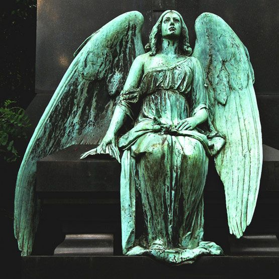 Where were you while the morning stars sang together, and all the angels shouted for joy?  Bible  Exterior Verdigris
