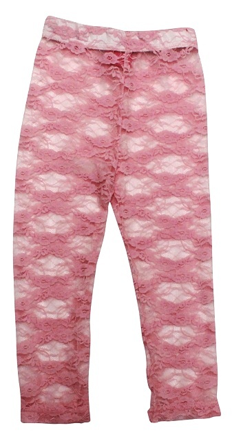 All Things Pretty Lacey Leggings - Pink, too cute