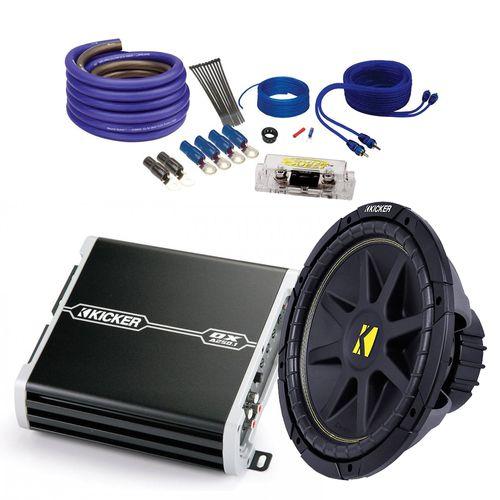 Kicker Car Audio Bundle 10C102D4 Sub + 41DXA250 Amplifier and SQ600H Wire Kit  sc 1 st  Pinterest : best sub wiring kit - yogabreezes.com