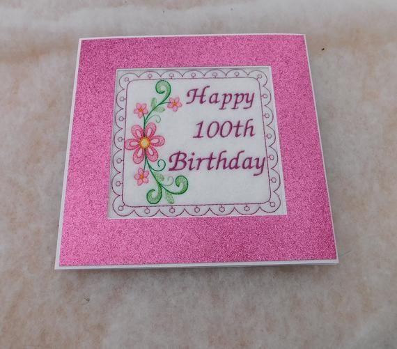 Birthday Card best wishes Stitched Butterflys Next Card new sealed female child