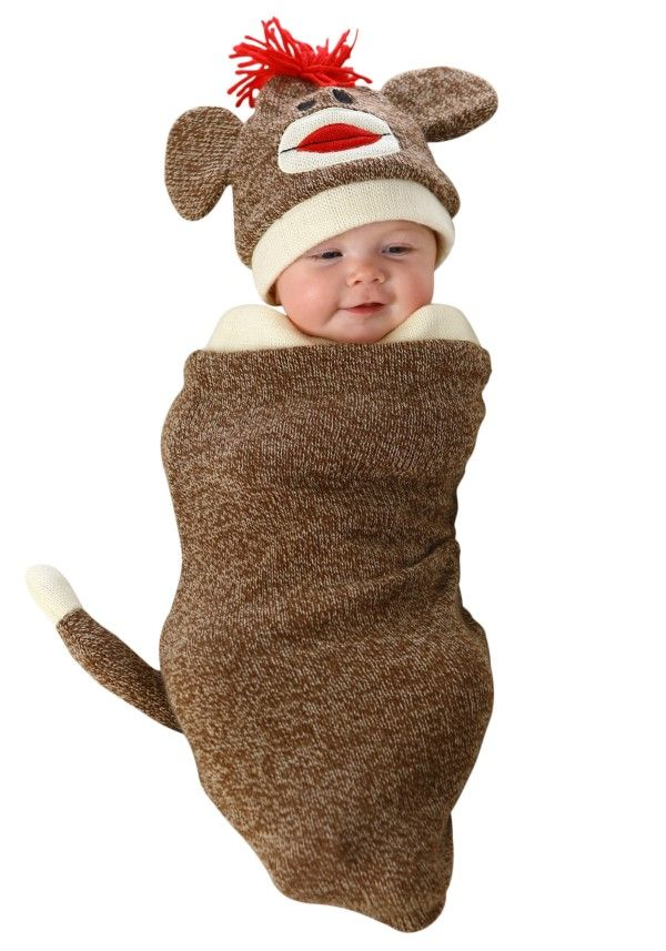 newborn halloween swaddle costumes sock monkey costumesbaby girl - Halloween Costume For Baby Girls