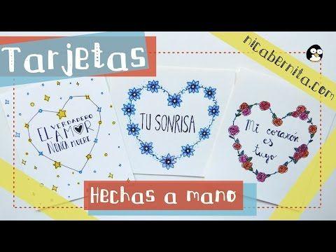 #TARJETAS o #CARTAS HECHAS A #MANO CON #FRASES DE #AMOR 1  IDEAS PARA REGALAR a tu novio o novia (San Valentín)