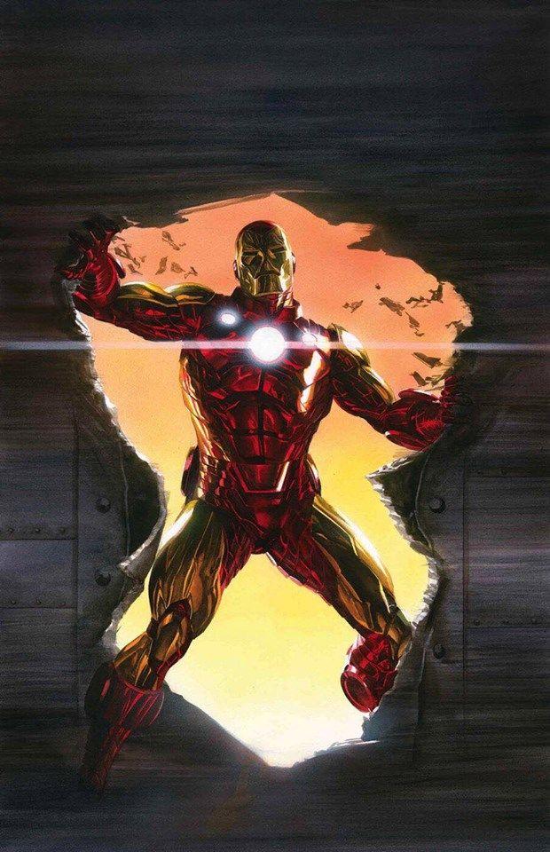 Iron Man by Alex Ross #AlexRoss #IronMan #TonyStark #Illuminati #Avengers #SHIELD