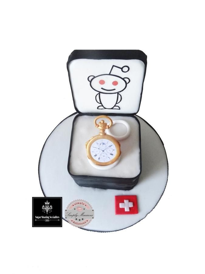 Vintage watch cake  for SSSocialites - Cake by Simply Macarons Zurich