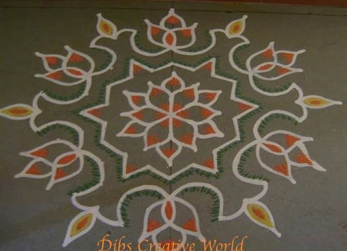 How to Make Rangoli Designs with Dots