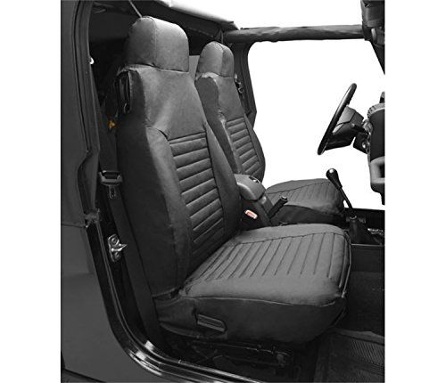 Bestop 29228 35 Black Diamond Front High Back Seat Cover Set For