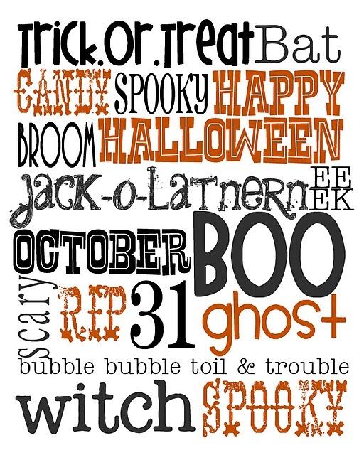 Free halloween printableHalloween Stuff, Happy October, Subway Art, Free Halloween, Halloween Printables, Halloween Ideas, Halloween Art, Free Printables, Happy Halloween