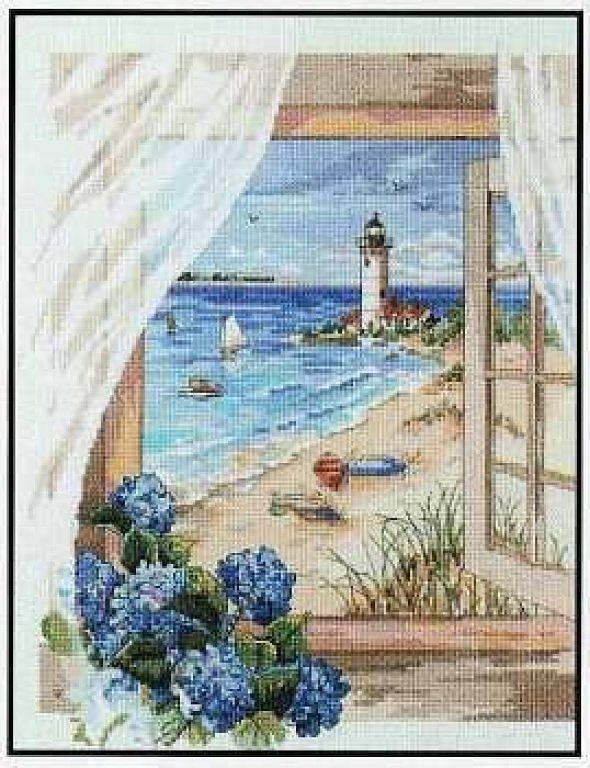 Beach View - 1/7 Solo Patrones Punto Cruz | Aprender manualidades es facilisimo.com