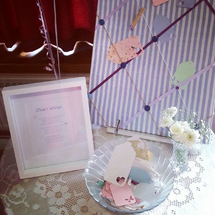 christening party decorations - wish board