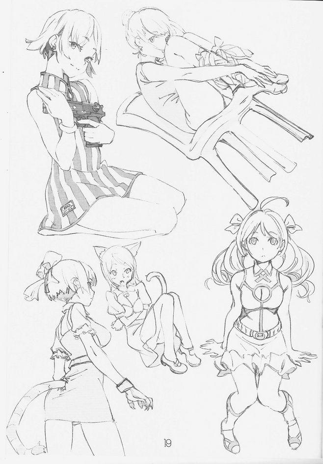 -Cute anime gun girl Othera design