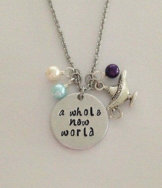 Disney inspired Aladdin necklace a whole new world