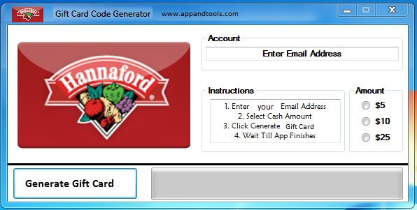 Hannaford Gift Card Generator | Gift Cards | Pinterest | Generators