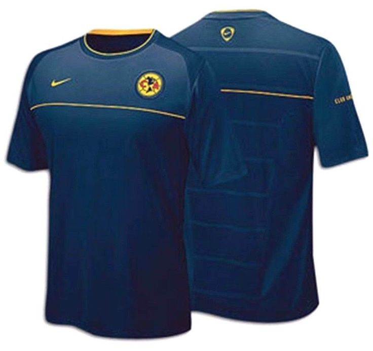 NIKE CLUB AMERICA AGUILAS TRAINING TOP Navy/Yellow.