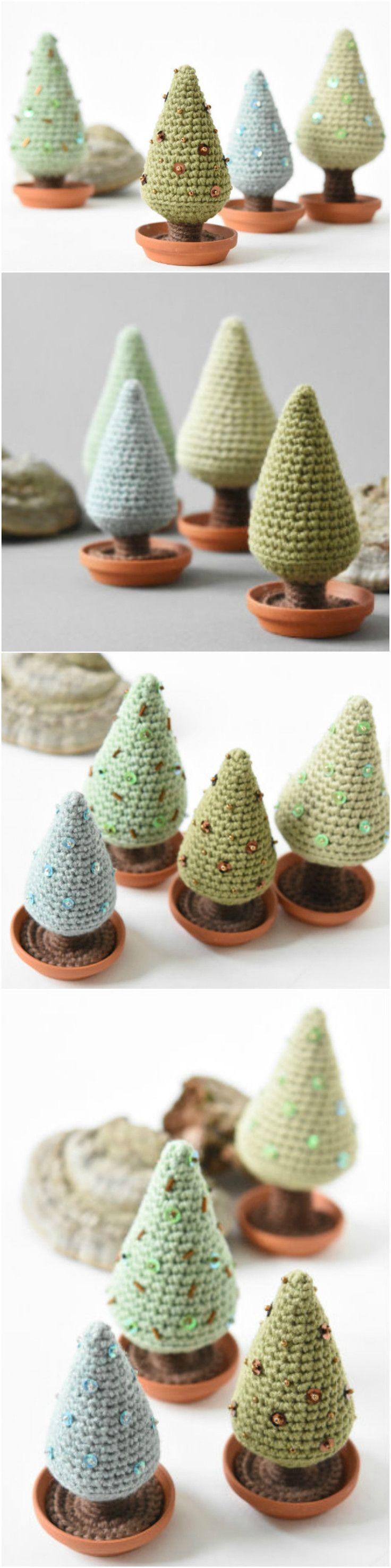 FREE Christmas Tree amigurumi crochet pattern by Lilleliis