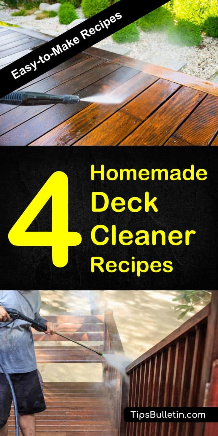 Find out how to clean your deck and outdoor area with 22 homemade