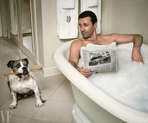 Spotted: A Cute Bulldog in Vanity Fair (Oh, and Jon Hamm, too) - Dog Milk