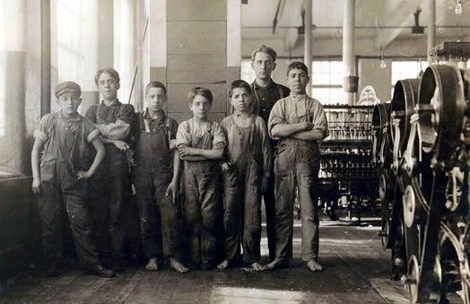 Boys of the mill. Fall River, Massachusetts