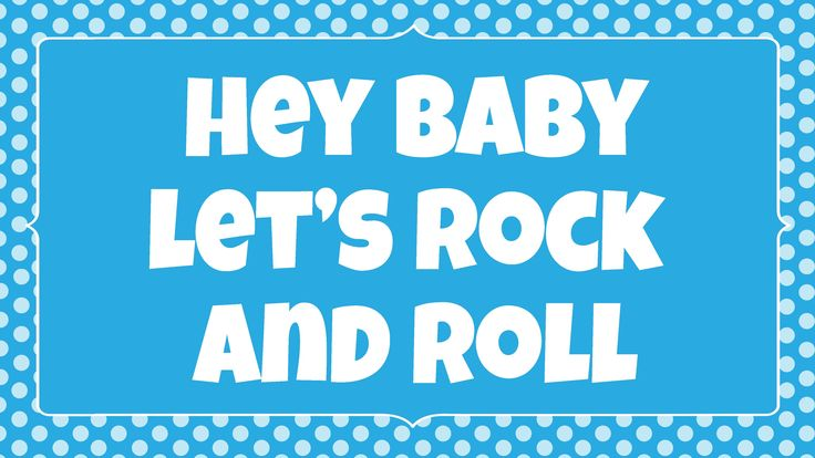 Hey baby let's rock and roll action song for kids. Sing and read along to achieve multi-sensory learning. See it, hear it, do it! Free song ideas and activities: http://www.childrenlovetosing.com