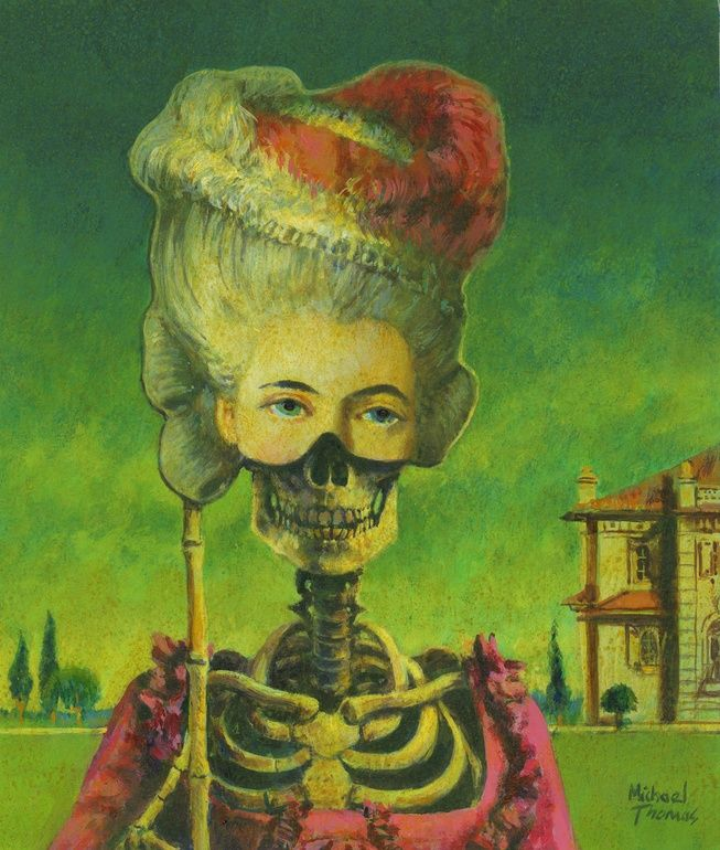 "Saatchi Online Artist: Michael Thomas; Acrylic, 2011, Painting ""Bone Yard Masquerade"""