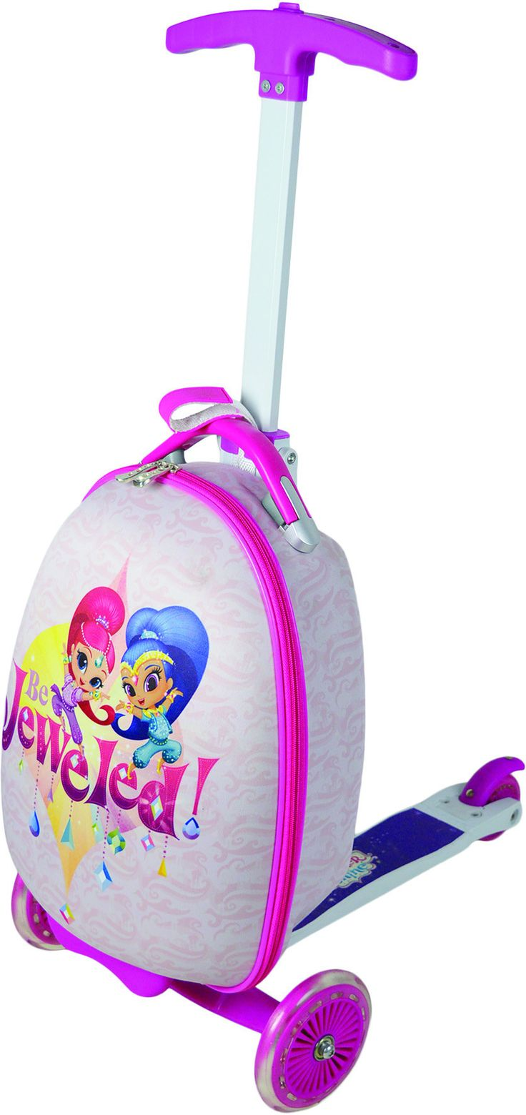 Nickelodeon Shimmer and Shine 16 inch Children's Scooter Luggage