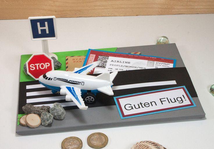 """Karte """"Guten Flug"""", Gutschein, Geldgeschenk von Kleinigkeiten von NB  auf DaWanda.com"""