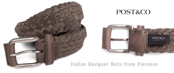 Not everything that comes out of #Pierotucci is made in leather, have a look at this designer belt from POST & Co in waxed cord with leather accents. http://www.pierotucci.com/en/italian-online-shop/46-0/Post-and-Co-Leather-Belts.html