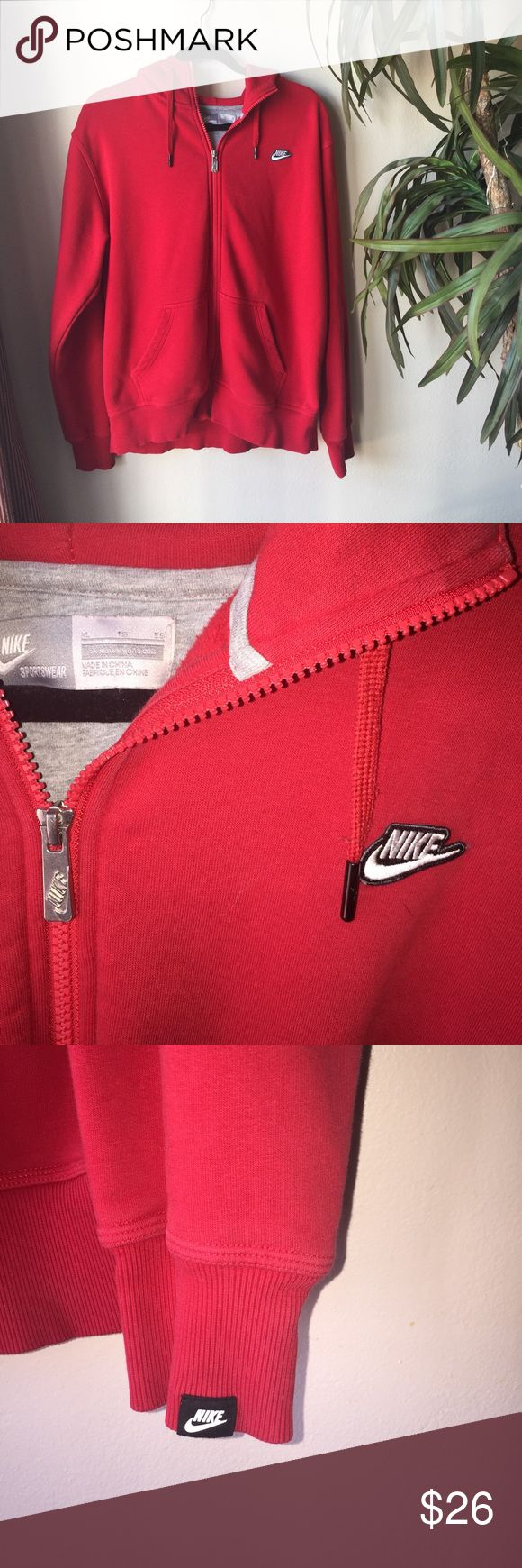 Men red Nike jacket Red Nike jacket. Size extra large, but fits like a large. Nike Jackets & Coats