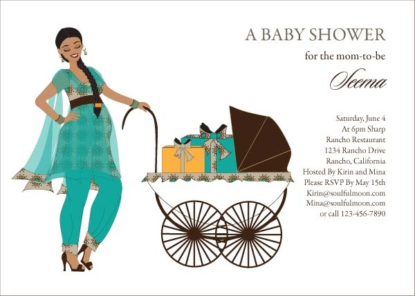 Buggy Diva Indian Baby Shower Invitations By Soulfulmoon Indian