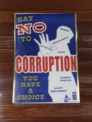 say no to corruption