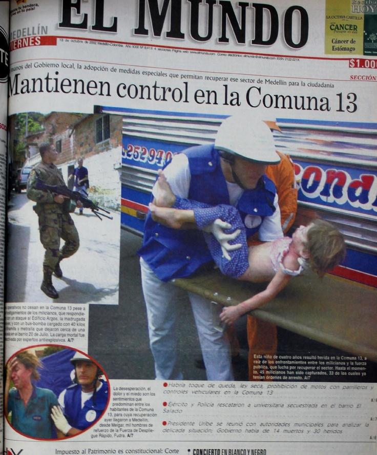Primera página del periódico El Mundo del 18 de octubre del 2002