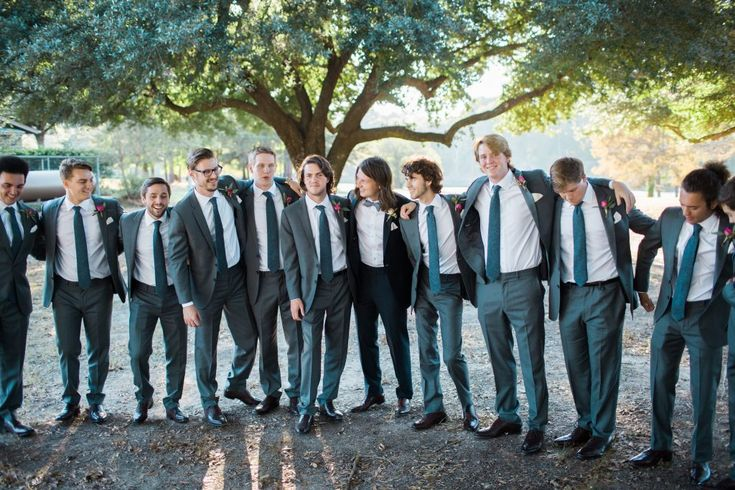 Duck Dynasty's Reed Robertson wed Brighton Thompson in a black suit while his groomsmen wore gray.