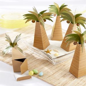Palm Tree Shaped Favor Boxes - 24 pcs