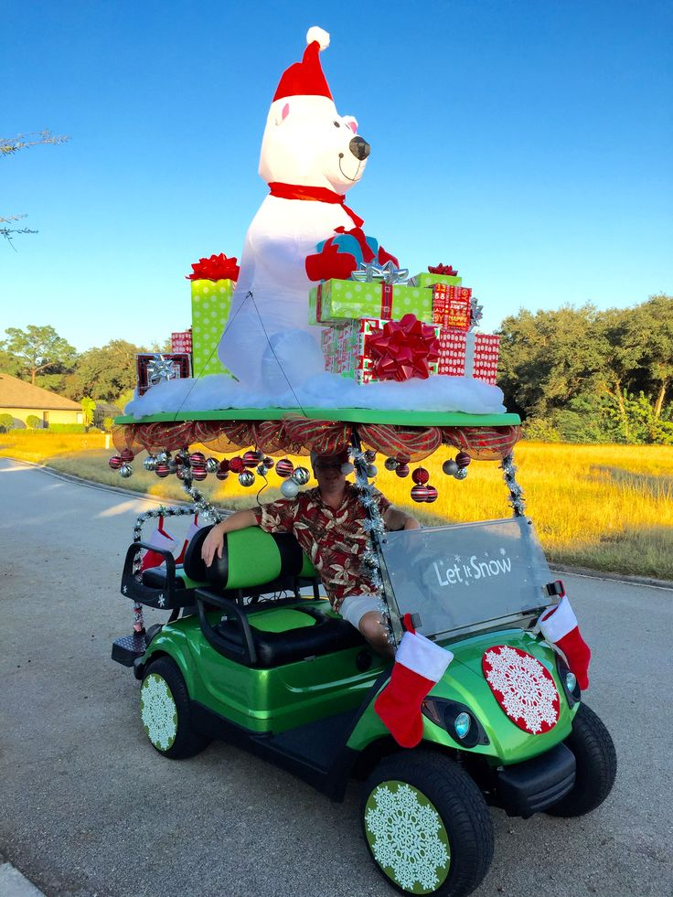 best in show! Christmas golf cart parade :)