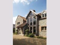 Oakwrights oak frame house glazed gable images