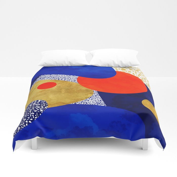 Buy Terrazzo galaxy blue night yellow gold orange Duvet Cover by sylvaincombe. Worldwide shipping available at Society6.com. Just one of millions of high quality products available.