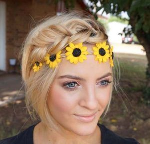 crown braid with flower headband