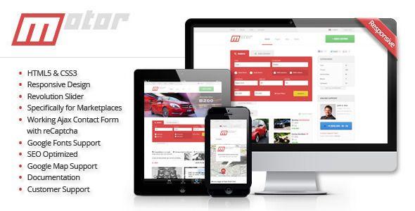 Motor - Vehicle Marketplace Responsive Template (Retail)