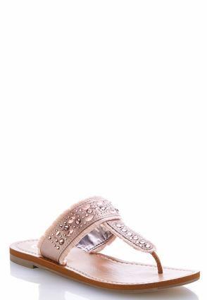 e9a0324d5 Cato Fashions Embellished Fringe Thong Sandals  CatoFashions