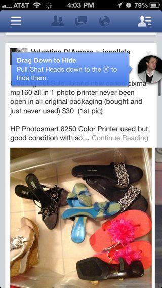 Facebook iPhone popovers, coach marks screenshot