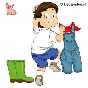 Voorleesdagen 2015: Boer Boris gaat naar zee. Spel 1: In de kleren van de boer, speldag thema boerderij voor kleuters, kleuteridee , farm games for preschool field day.