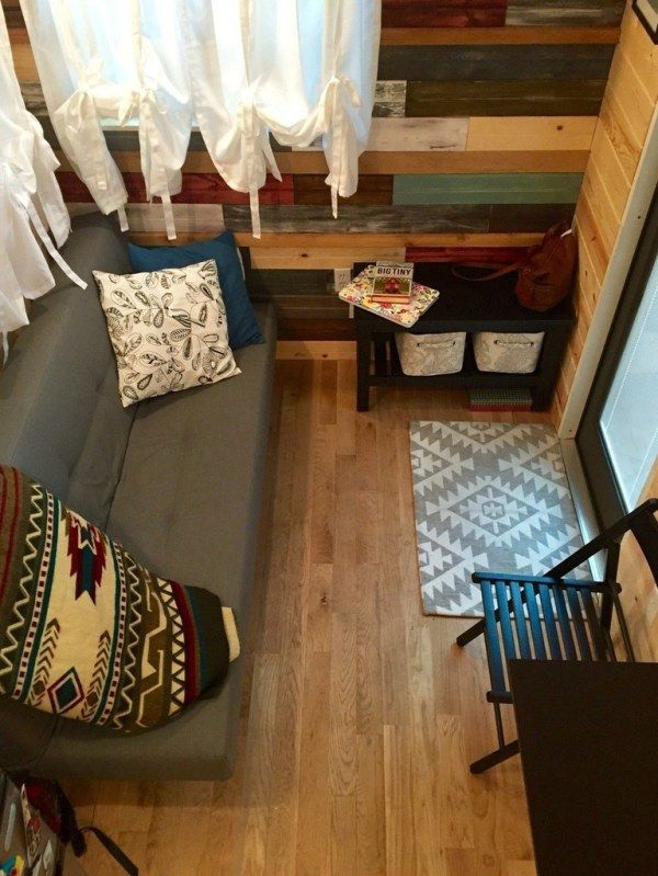 """This is Stephanie's """"Hammy"""" Tiny House that's for sale in Florida for just $30,000. The home includes gorgeous built-in window boxes for a fun on-house garden, a skylight th…"""