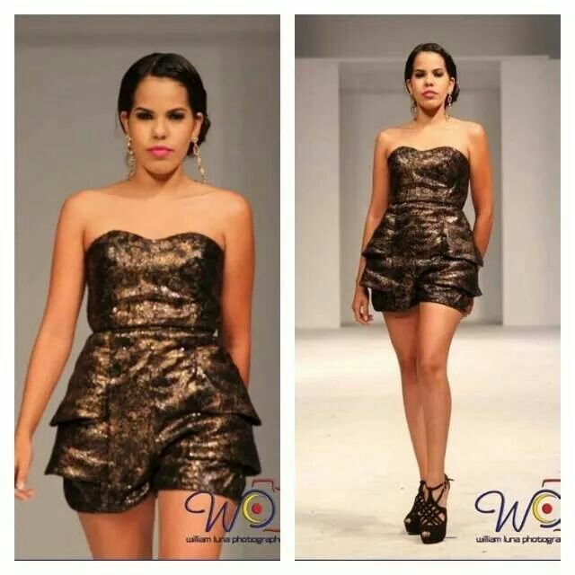 Short romper by Rebeca Ruiz Galloza  Rasgos Collection