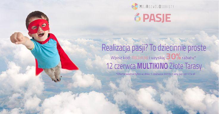 Wszystkiego najlepszego!!! :)  Z okazji Dnia Dziecka mamy dla Was specjalny PREZENT!  Tańsze bilety na Projekt6: Pasje. :)  Kod z obrazka działa tylko dziś i tylko na   www.mojrozwojosobisty.evenea.pl !   Kto już skorzystał z PROMOCJI? :)  #promocja #DzieńDziecka #MójRozwójOsobisty #Projekt6
