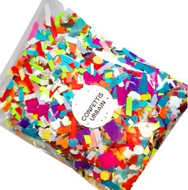 1 sachet de confettis multicolores urbain fait main