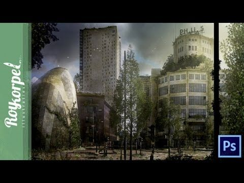 Abandoned Dutch City (Eindhoven) | Photoshop Time Lapse video (wallpaper...