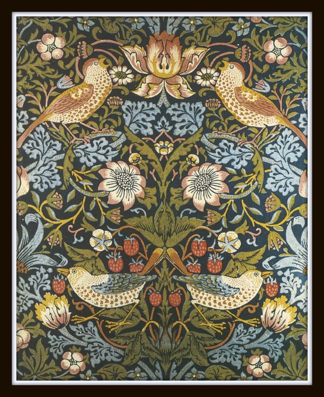 William Morris Birds Plate 9 Art Print 8 x 10 Arts and Crafts Era Home Decor Wall Hanging Mission Style Prairie Style Bungalow. $10.00, via Etsy.