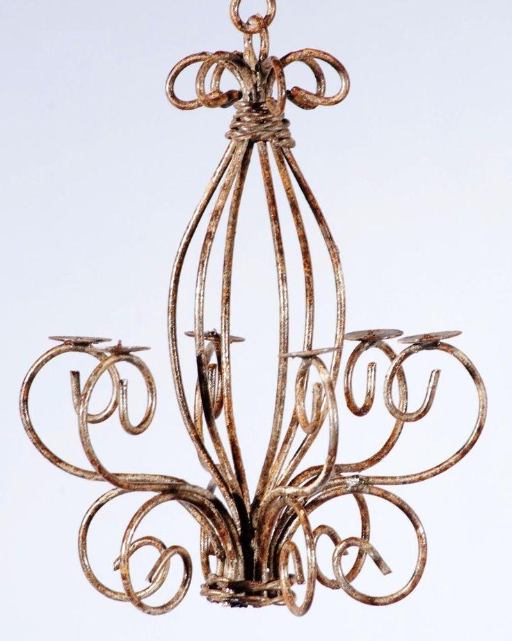 Wrought Iron Celian Candle Chandelier Candelabra
