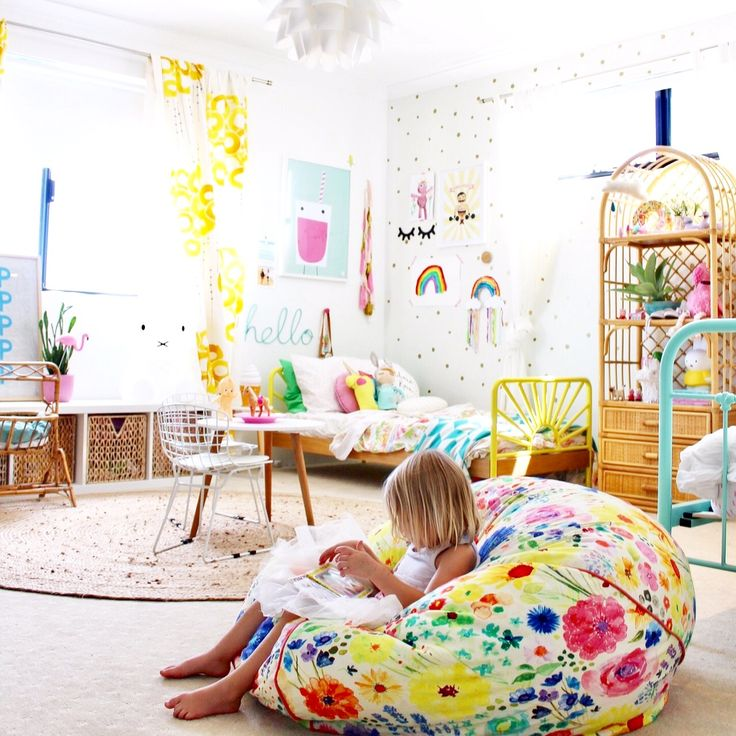 toddler girls room more kids bedroom and decor ideas on the blog colourful modern boho - Childrens Bedroom Wall Ideas