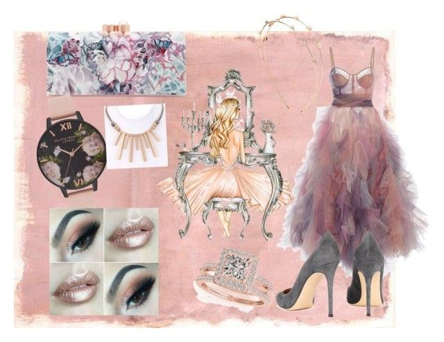 """""""Cinderella's night out"""" by tarynbassadien on Polyvore featuring Rothko, Ted Baker, Gianvito Rossi, Charlotte Russe, Allurez and Olivia Burton"""