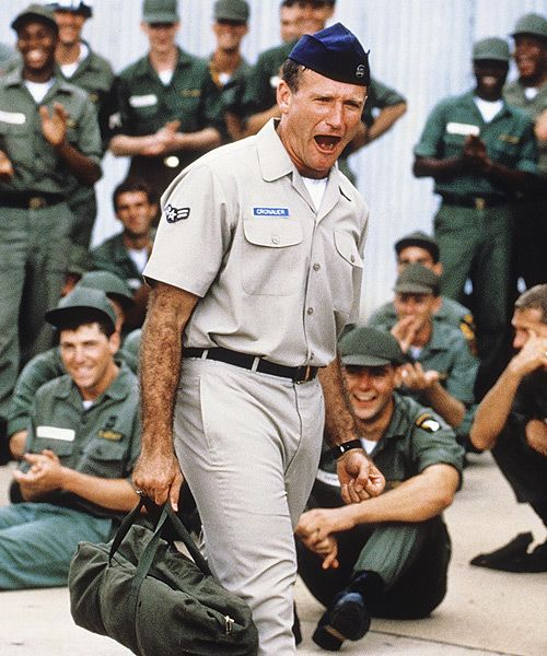 Good Morning Vietnam ~ Robin Williams - I don't think I've laughed so hard & so much as I did with this movie - I've got to watch it again!